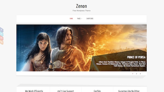 zenon lite free business wordpress theme