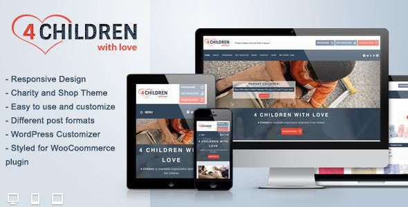 4 children with love wordpress theme
