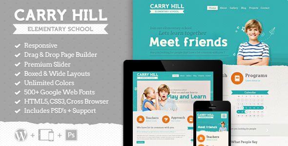 carryhill school wordpress theme