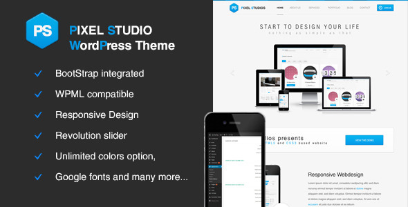 pixel studios wordpress theme