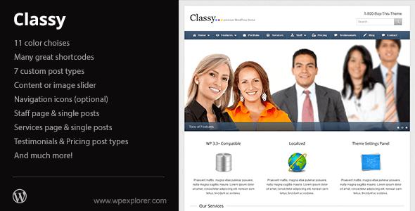 classy wordpress theme
