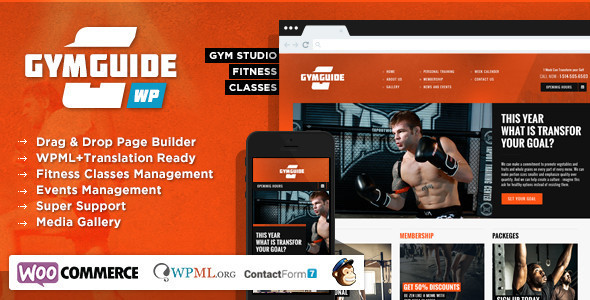 gym guide wordpress theme