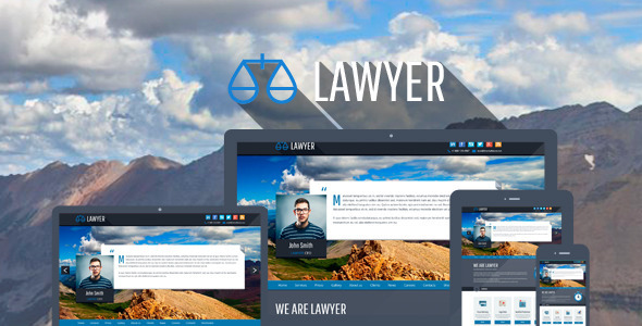 lawyer bootstrap wordpress theme