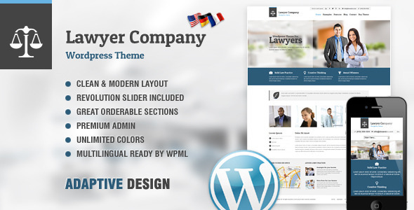 lawyer company wordpress theme