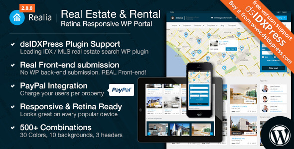 realia wordpress theme