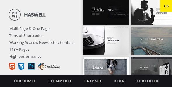 haswell-html-template