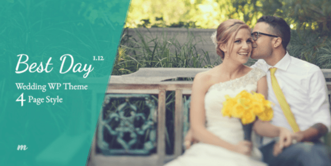 best day wp responsive wedding theme