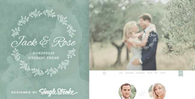 jack rose wedding wp template