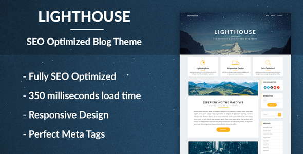 lighthouse blog angular js 2 theme