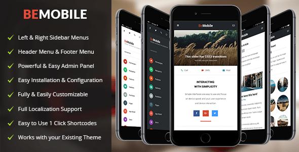 be mobile wordpress theme