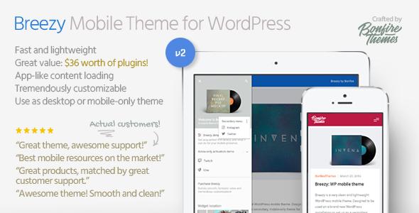 breezy mobile wordpress theme