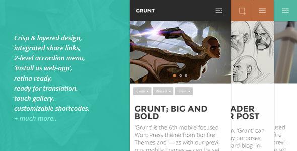 grunt mobile theme for wordpress