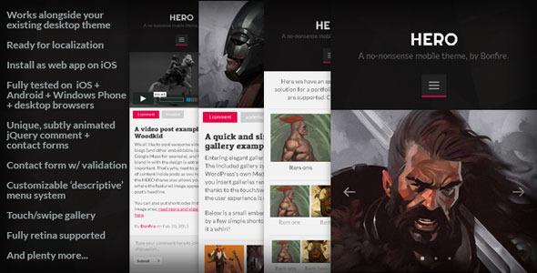 hero mobile responsive wp theme