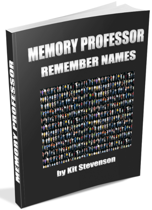 The Memory Professor System  Image of NAMES black background cover