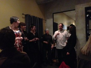 Chef Jason Severs thanks the staff and guests for the last 12 years.