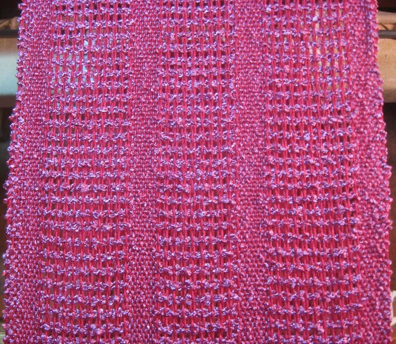 Mock leno woven on a 4 harness loom