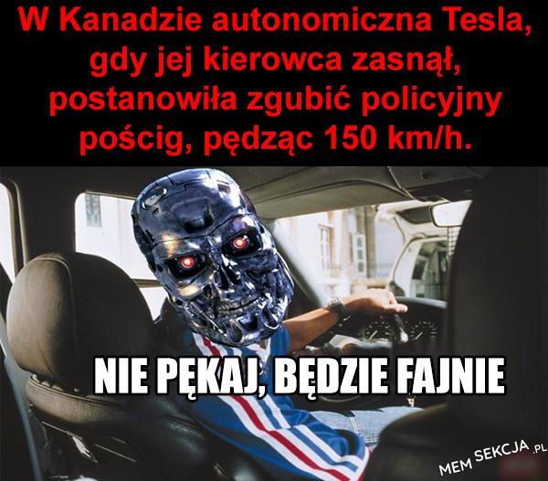 W kanadzie autonomiczna tesla, | MemSekcja.pl
