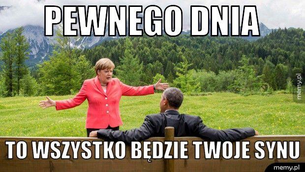 Znalezione obrazy dla zapytania Memy Merkel z imigrantami
