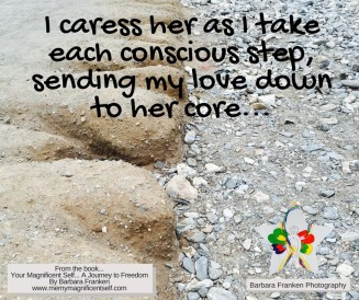 I caress her...