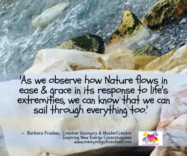 Observe how Nature flows...