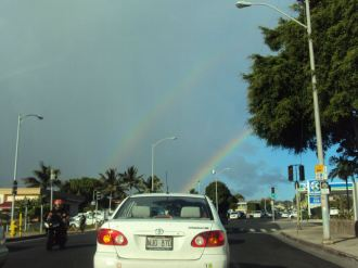 Rainbows, including this double rainbow, are extremely common.