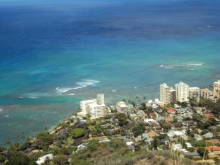 Beachfront properties in Waikiki