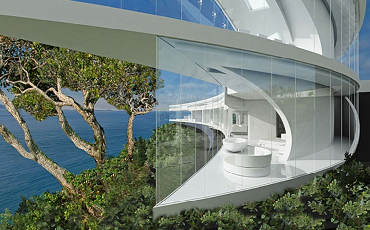Pure White Modern House with wonderful view on a Sea 1280
