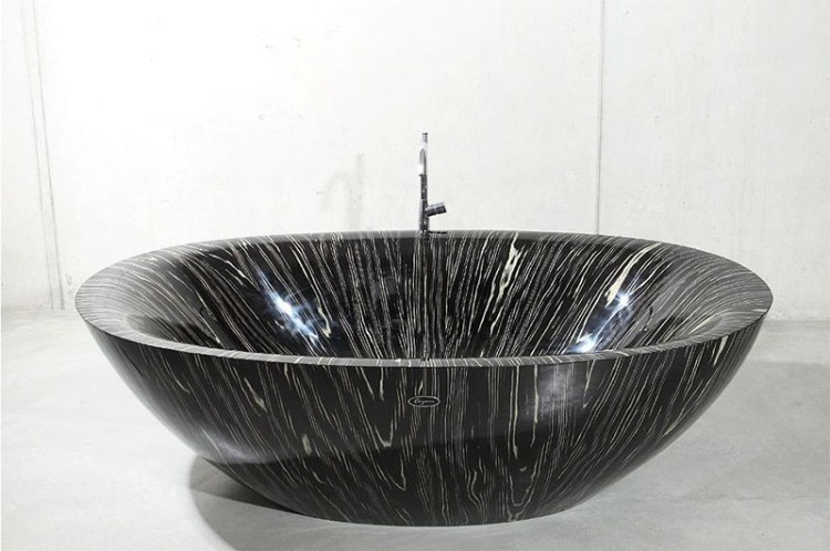 Wooden Bathtub Laguna Pearl Black 800x