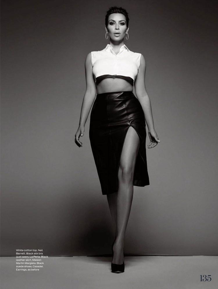 KIM KARDASHIAN in Elle Magazine