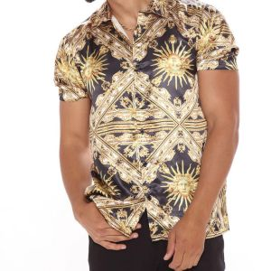 Black and gold luxury shirt 1