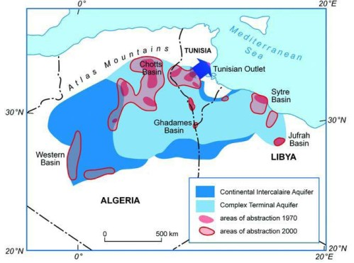 Aquifers in Northern Sahara