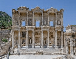 library-of-celsus-at-ephesus-destroyed-by-earthquake-and-then-invasion