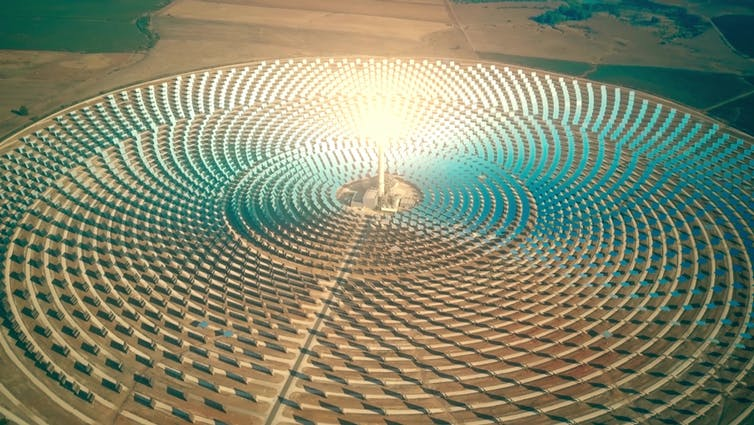 Solar panels all over the Sahara desert?