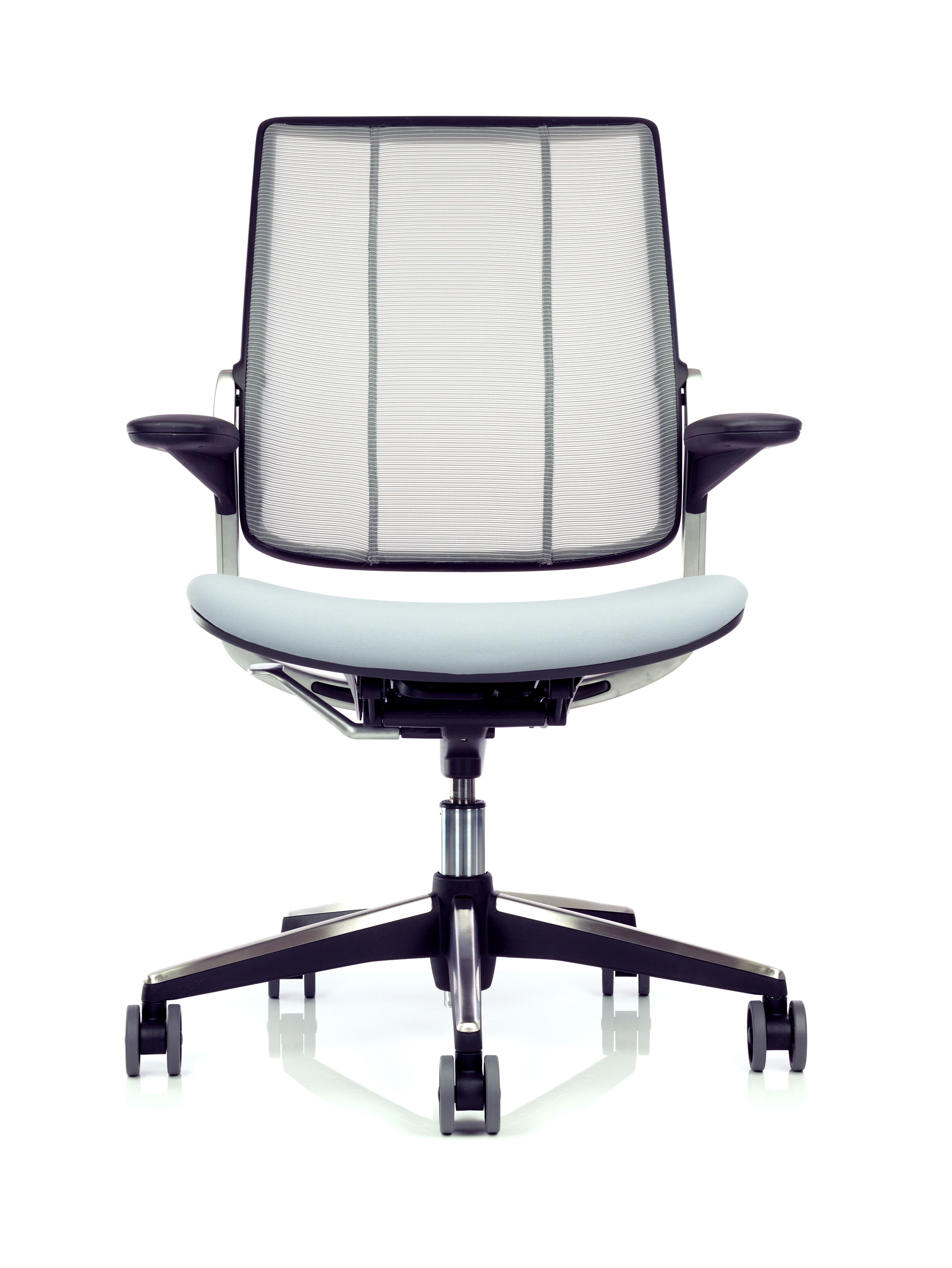 diffrient smart chair dining table with white leather chairs ergonomic mesh back office humanscale res