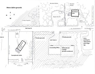 Map of Mena Cabins grounds Willowbrook Cabins & RV