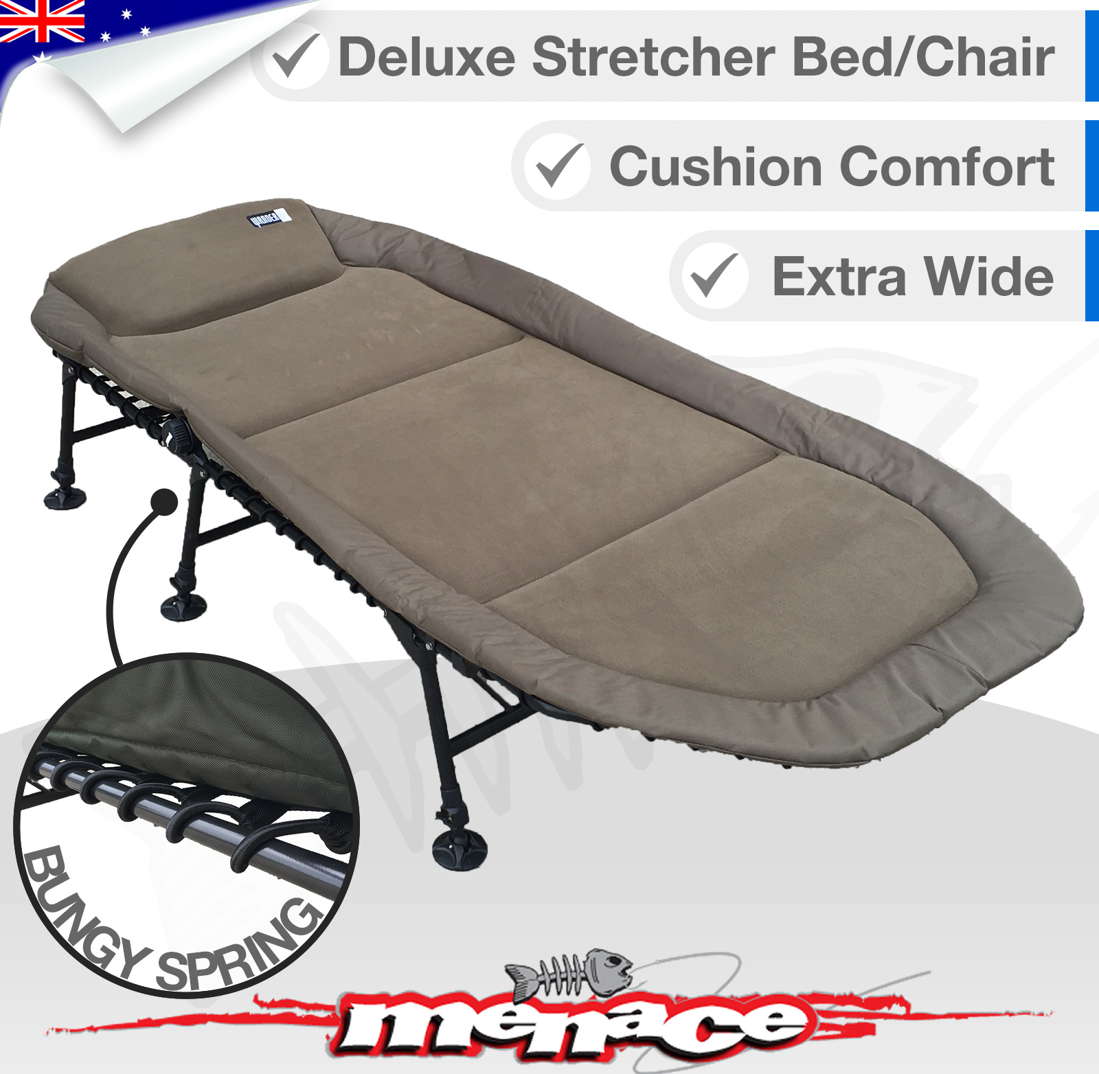 Folding Sleeping Chair Wander Oz Fold Out Stretcher Sleeping Bed Chair Extra Wide