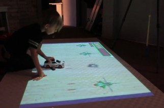Interactive Projector Gaming Brings Joy to Kid's Life