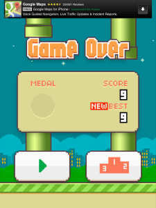 my Flappy Bird high score