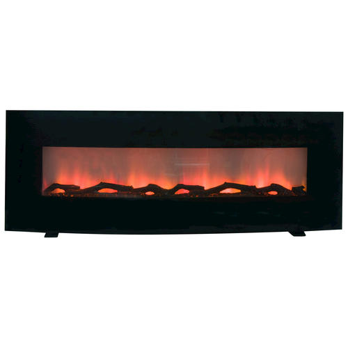 "See Through Electric Fireplace For Adding Warmth To Room Curved 60"" Wall Mount Electric Fireplace At Menards®"