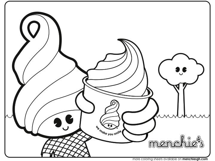 Frozen Yogurt Coloring Pages