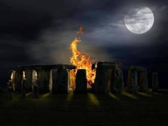 stonehenge fire