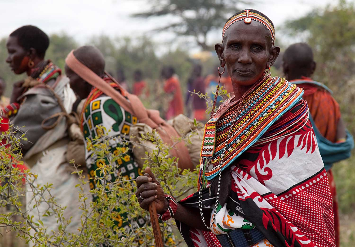 Marcy Mendelson, The Samburu Story | Her beads tell a story.  This Samburu woman's jewelry shows she is married and the mother of a moran (warrior).