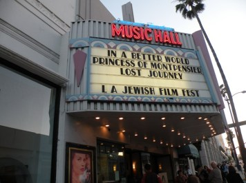 The L.A. Jewish Film Fest at the historic Laemmle Music Hall in Bevery Hills