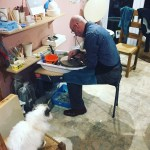 Art Therapy Potter's Wheel with Willow the Cat