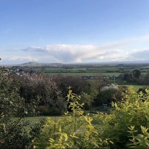 View Of The Somerset Levels from Yoko Yurt