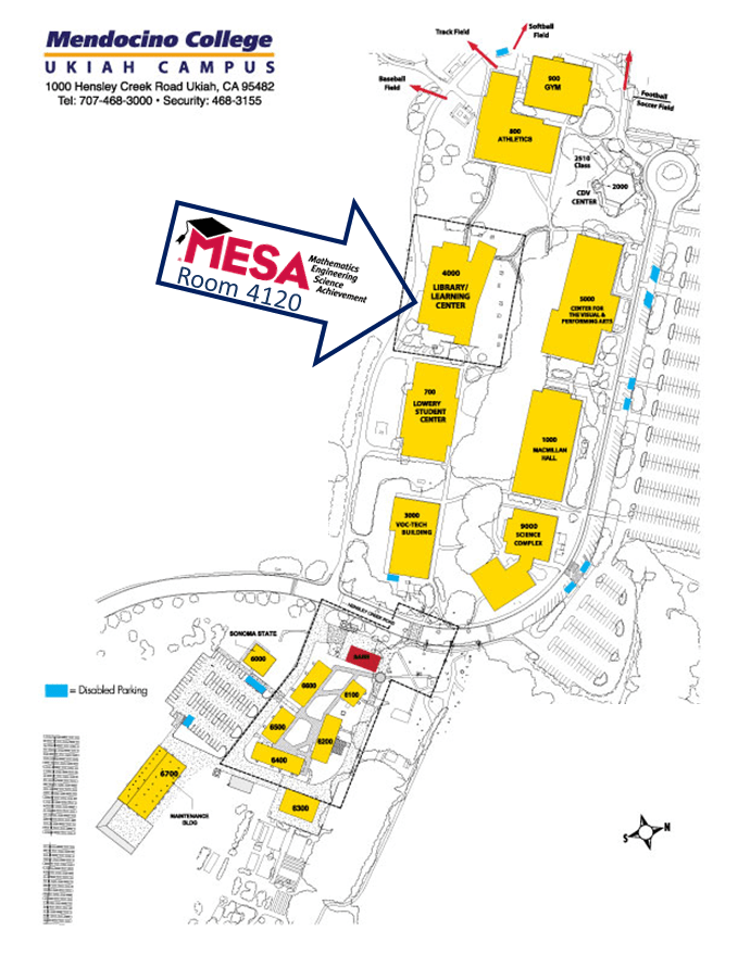 Mesa College Map : college, Location, Hours, Mendocino, College