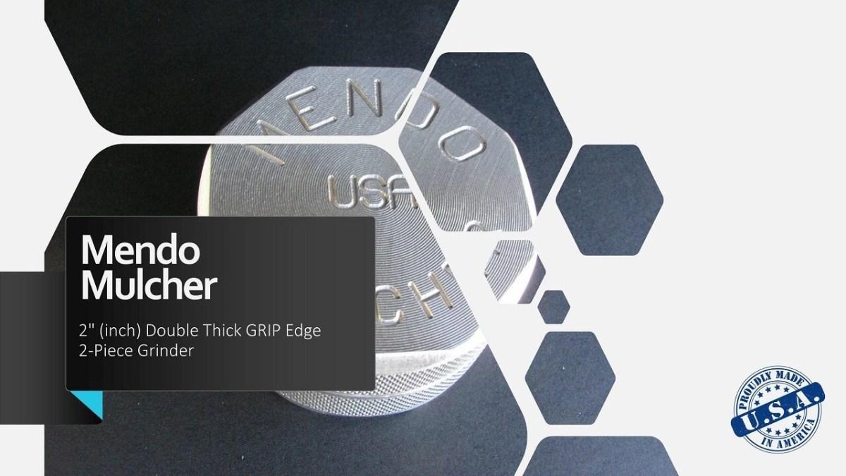 "Mendo Mulcher 2.00"" (inch) 2-Piece Screenless Grinder Facebook OG"