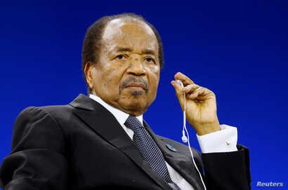 Cameroon President Paul Biya attends the Paris Peace Forum, France, November 12, 2019.   REUTERS/Charles Platiau