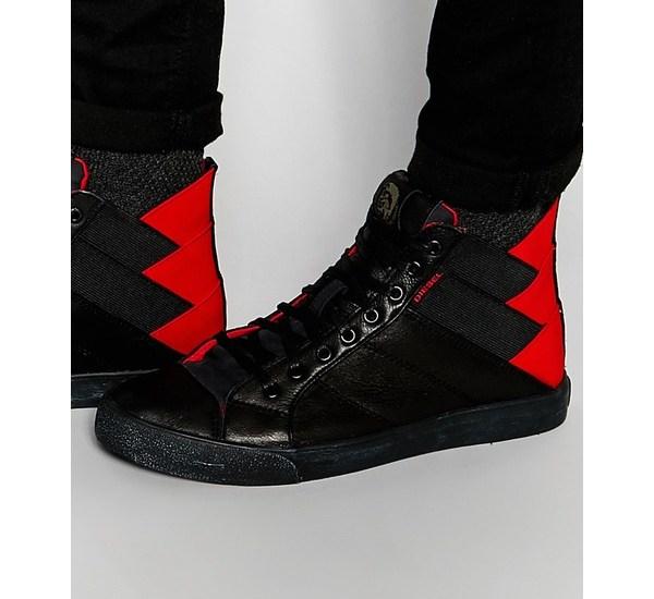 diesel sneaker schwarz rot