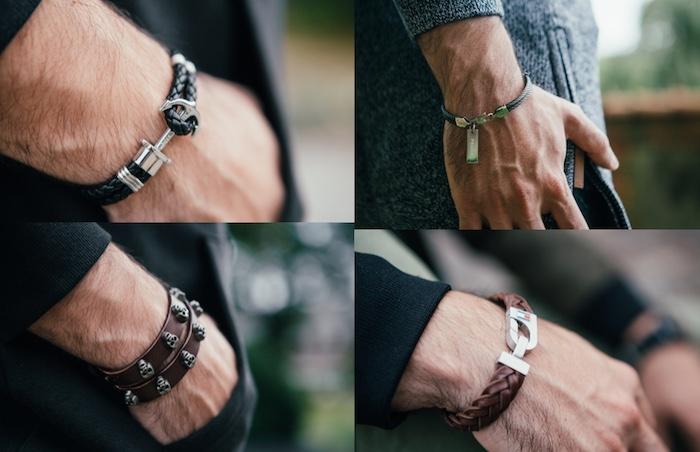 Die perfekte Auswahl für ein Herrenarmband. Ob Lederarmband oder ein Herrenarmband aus Edelstahl. Perfekt für Geburtstag oder Weihnachten.